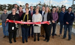 Local groups join celebrations for official opening of $800,000 upgraded greyhound racetrack in Horsham